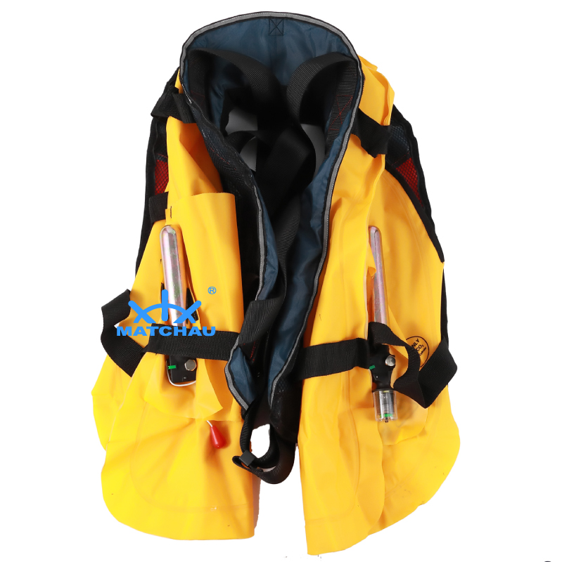 Auto + Manual Type 150N Twins Air Chamber Inflatable Life Jacket